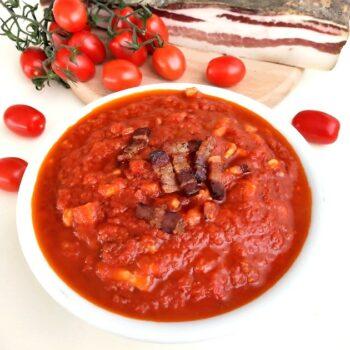 sugo amatriciana sughi e salse sugo classico ricetta italiana gastronomia festività menu Alimentari Pasqualetti Shop Online asporto