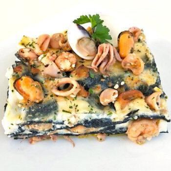 Lasagna al nero di seppia Gastronomia Pasqualetti
