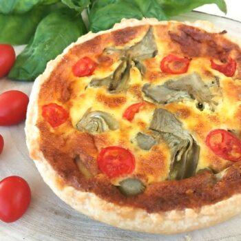Quiche lorraine vegetariana con pomodori e carciofi Alimentari Pasqualetti