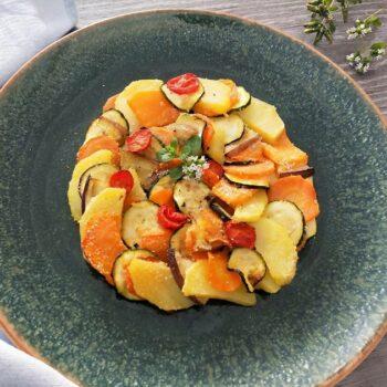 Verdure miste gratinate menu vegetariano Capodanno
