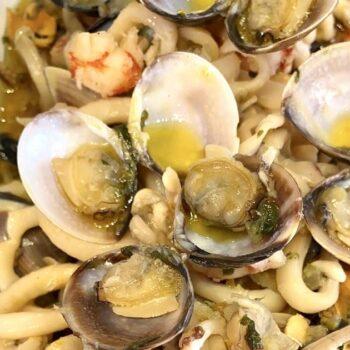 Sugo bianco di pesce menu capodanno