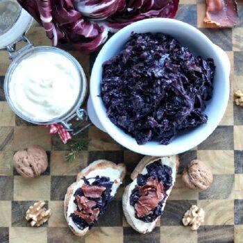 Salsa di radicchio rosso, formaggio e speck shop online